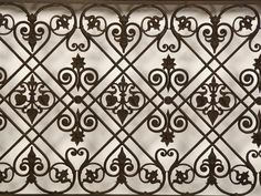 A sensational cast iron balcony railing from France c.1875 7