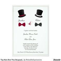 Invitación gay del boda de Borgoña de las