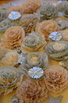 Frilly flowers.