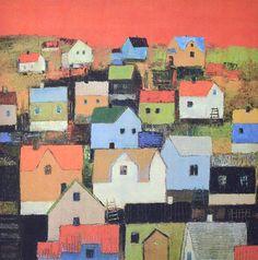Hus under en rød himmel, Gunn Vottestad