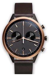 Uniform Wares Leather Strap Watch, 40mm