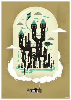 What a beautiful castle illustration! Maybe Arthur should have a blimp in the next installment of Arthur Collins and the Three Wishes.