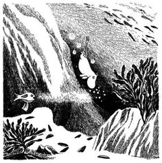 Moomintroll dives for pearls.