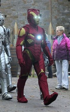 NO! Tony, you say NO to upgrade! #ironman #cyberman #doctorwho