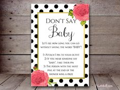 5″X7″ DON'T SAY BABY BS333A