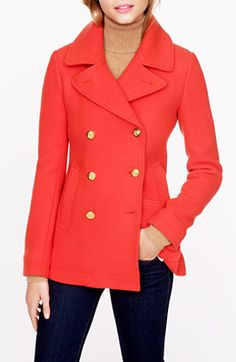 Coral peacoat - yes please
