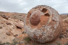 Valley of Balls Kazakhstan | #Geology #GeologyPage #Kazakhstan  The Mangystau region of Kazakhstan near the borders of Turkmenistan and Uzbekistan is a huge empty place. In total it covers 165600 square kilometers  an area larger than England.  The geography of the region varies between tundra grasslands epic mountains and dusty dry barren wilderness.  Read more & More Photos : http://www.geologypage.com/2016/10/valley-of-balls.html  Geology Page www.geologypage.com
