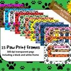 REVISED! For dog lovers and teachers looking for fun paw-print papers to use in their classroom or products!  15 images in high res 300 dpi pngs in... $3.00