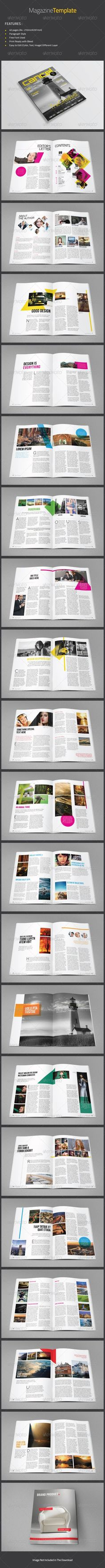 Magazine Template & Design Magazine Template