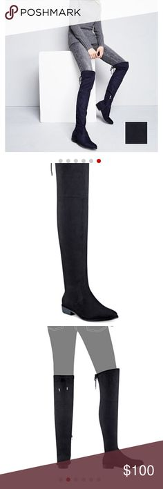 Black knee-high boots from Marc Fisher. Bought from Macys. Perfect for people with smaller thighs. Never worn. The box will NOT come with the boots. Marc Fisher Shoes Over the Knee Boots Knee High Boots, Over The Knee Boots, Smaller Thighs, Black Knees, Fashion Design, Fashion Tips, Fashion Trends, Fisher, Black Jeans