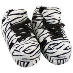 75f4111804ab Comfy Feet Zebra Print Slippers. Snooki Slippers