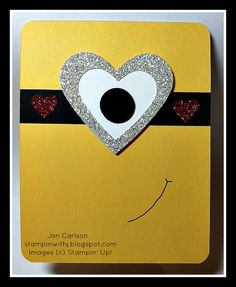 Minion Valentine's by JC Mickey - Cards and Paper Crafts at Splitcoaststampers