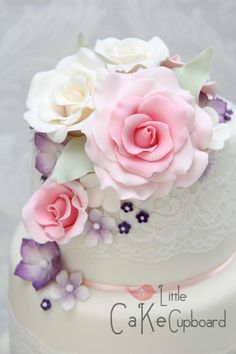 Summer Floral Wedding Cake