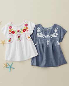 8b8389e1aa419 Everly Embroidered Blouse - Girls