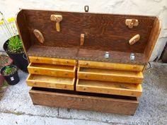 Handmade carpenter's tool chest.