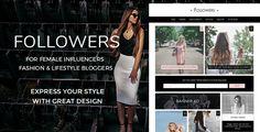 Followers - FashionWordPress Blog Theme - Personal Blog / Magazine