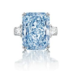 Completing our trio of the most expensive diamond rings in the world is the 24.18ct Cullinan Dream - the largest Fancy Intense blue diamond to ever appear at auction. Discover the most expensive rings in the world: http://www.thejewelleryeditor.com/jewellery/know-how/most-expensive-ring-in-the-world/ #jewelry