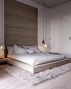 44 Stunning Minimalist Modern Master Bedroom Design Best Ideas Would you like to design the perfect modern master bedroom? Do you find that you have plenty of space to Modern Minimalist Bedroom, Modern Master Bedroom, Modern Bedroom Furniture, Stylish Bedroom, Modern Bedroom Design, Master Bedroom Design, Contemporary Bedroom, Home Decor Bedroom, Modern Interior Design