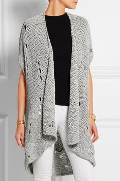 Gray acrylic, viscose and wool-blend Slips on acrylic, viscose, wool Hand wash Big Comfy Sweaters, Shawl Cardigan, Vivienne Westwood Anglomania, Textiles, Top Pattern, Frame Denim, Sweater Fashion, Crochet Clothes, Cardigans For Women