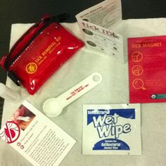 The contents of the tick removal kit... Time to get yours now!