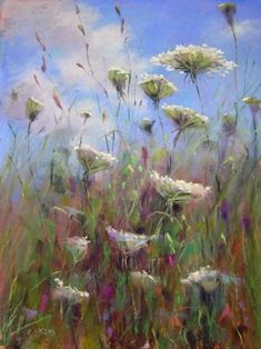watercolors of queen anne's lace | Queen Anne's Lace Painting, original painting by artist Karen Margulis ...