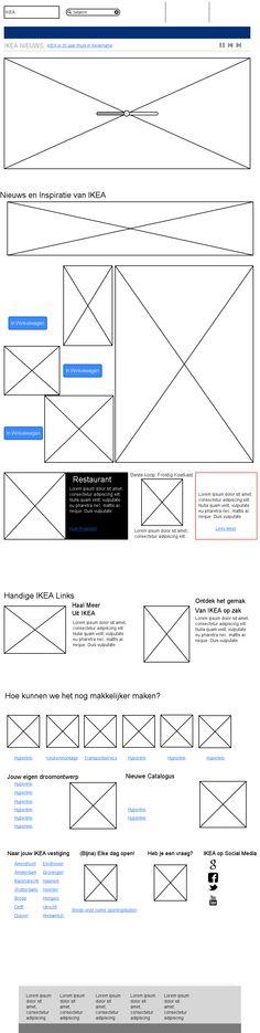 Mijn Moqup van IKEA Website
