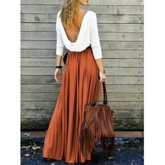 SHARE & Get it FREE | Long Sleeve Maxi Draped Open Back DressFor Fashion Lovers only:80,000+ Items • FREE SHIPPING Join Twinkledeals: Get YOUR $50 NOW!