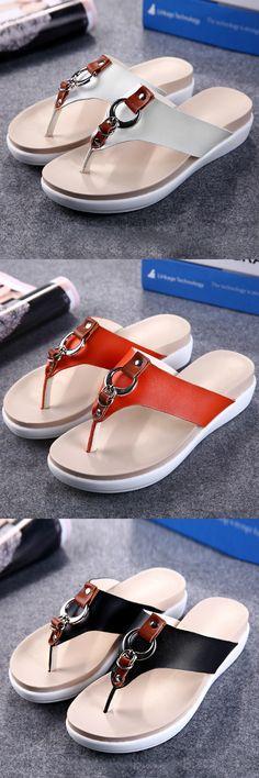US$19.77 Casual Beach Slippers_Summer Women Sandals_Flats Sandals