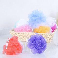 1 Pcs Bath Ball Body Washing Clean Exfoliate Puff Scrubbing Mesh Bath Sponge Baby Shower Bath Brush for Bathroom Random Color – Bath Brushes, Body Wash, Fashion Online, Baby Shower, Cleaning, Throw Pillows, Color, Things To Sell, Babyshower