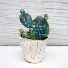 Ceramic Cactus by Vsocks on Etsy