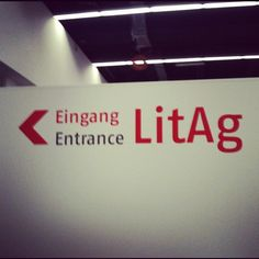 Frankfurter Buchmesse 2012 - LitAg entrance