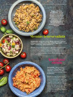Mentás lencsesaláta és kuszkusz saláta #saláta #menta #lencse #kuszkusz #vacsora #ebéd #gyors #finom #tescomagyarorszag Healthy Food, Healthy Recipes, Fried Rice, Ale, Clean Eating, Drinks, Cooking, Ethnic Recipes, Creative
