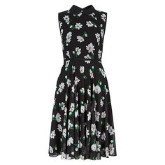 Buy Hobbs Francesca Dress, Black Multi, 8 Online at johnlewis.com