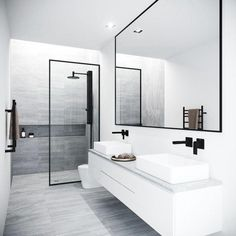 Vigo Meridian 33 - 73 Framed Fixed Glass Shower Screen in Matte Black - Badezimmer Amaturen Bathroom Trends, Bathroom Renovations, Remodel Bathroom, Boho Bathroom, Industrial Bathroom, Budget Bathroom, Restroom Remodel, Industrial Design, Vanity Bathroom