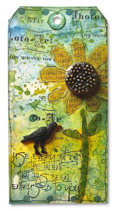Wendy Vecchi --  Distress Sunflower Tag