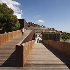 "Completed in 2015 in Spain. Images by Fernando Alda. [ land ]  Placed in the ""Sierras de Tejeda, Almijara y Alhama"" Nature Reserve, close to Nerja Cave, and open out to the shiny surge of the sea, this..."
