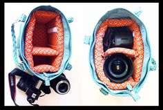 Quickly turn your purse into a camera bag with this removable DIY camera case divider