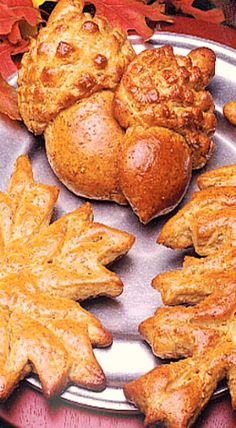 Autumn Leaves Bread - serve with soup, salad or casseroles. Easy to make using ready-made frozen bread dough. ❊