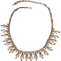 Spiky Vintage Sarah Coventry Necklace Rhinestone Tips Atomic Vintage Jewelry under $25 - search www.rubylane.com @rubylanecom