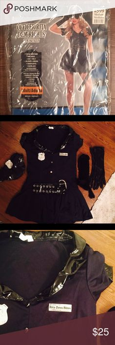Party city 🎉 Halloween sexy cop costume 👮🏻 Perfect condtion! Only worn once. Missing handcuffs and necklace but I will throw in fish net panty hose 🐟 super cute/sexy Halloween costume! Party City Other