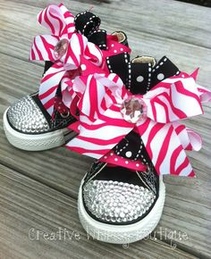 Customized Bling Converse by SassySolesShoetique on Etsy Bling Converse, Kids Converse, Barbie Theme Party, Embellished Shoes, Diy Fashion, Fashion Ideas, Pretty Baby, Baby Design, Shoe Brands