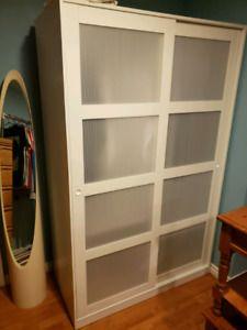 Kvikne Wardrobe With 2 Sliding Doors White Home Theatre Bedroom
