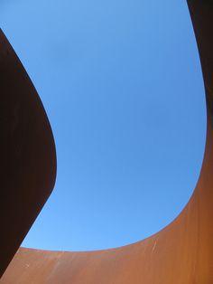 Richard Serra. Sequence, 2006. Cor-ten steel. Stanford Museum