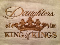 Custom Monogrammed pillow in your favorite color choice! Contact cindyjaegerdesigns@hotmail.com for your own - 16x20 finished pillow - $68.00 Daughters of the King of Kings