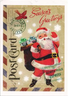 Santa Claus North Pole Express by Mailbox Happiness-Angee at Postcrossing, via Flickr