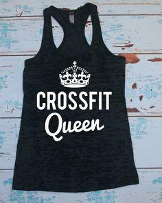 Burnout Racerback Tank Top. Crossfit Queen. by strongconfidentYOU, $21.00