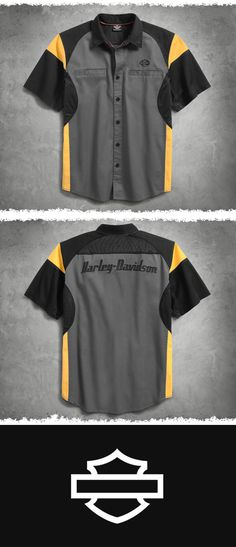 a2799ec29a2e6d The venting mesh underarm panels and mesh back yoke on this men s short  sleeve shirt encourage · Harley Davidson ...