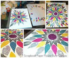Mejia Mamma: Chelsea's Bday & DIY Flower Burst Canvas