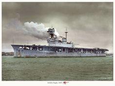 HMS aircraft carrier Eagle (early) #7A