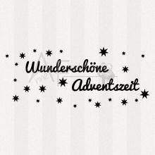 Textstempel - Wunderschöne Adventszeit